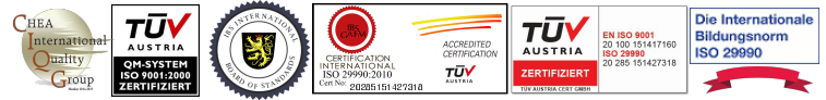 TUV ISO CHEA Accredited